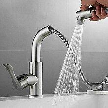 JRUIA Ausziehbar Bad Wasserhahn-Waschtischarmatur