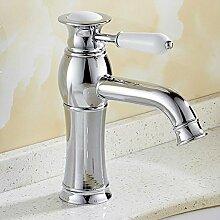 JRUIA Chrom Bad Wasserhahn Waschtischarmatur