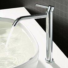 JRUIA Chrom Hohe Bad Wasserhahn Waschtischarmatur