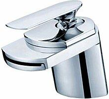 JRUIA Chrom Wasserfall Waschtischarmatur Breiter
