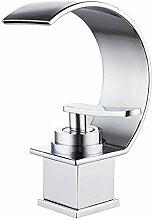 JRUIA Design Chrom Wasserfall Waschtischarmatur