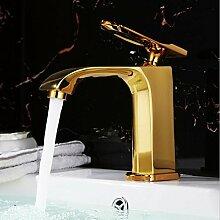JRUIA Elegant Gold Waschtischarmatur Bad