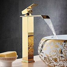 JRUIA Elegant Hohe Waschtischarmatur Wasserfall