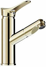 JRUIA Gold Ausziehbar Bad Wasserhahn