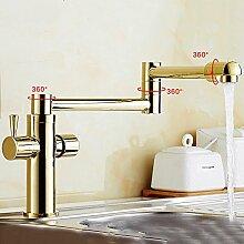 JRUIA Retro Küchenarmatur 360° Schwenkbarer