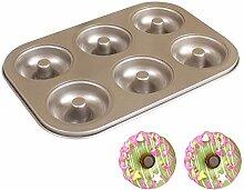 JRXyDfxn Donut-Form, antihaftbeschichtet, 6