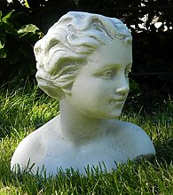 JS GartenDeko Beton Figur Büste Kind H 25 cm