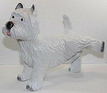 JS GartenDeko Dekorationsfigur Hund West Terrier