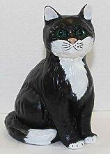 JS GartenDeko Figur Katze sitzend klein Deko