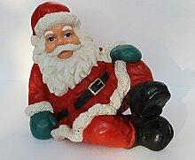 JS GartenDeko Figur Weihnachtsmann H 35 cm sitzend