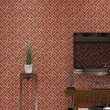 JSLCR Chinesische Tapete Wohnzimmer Wände Vlies 3D klassische Tapeten,Classic Ro