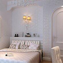 JSLCR Frisch und nicht gewebte Stoff Stanzen American pastoral Wohnzimmer Schlafzimmer Tapeten Hochzeitsblumen blau grüne Tapete,Rosa