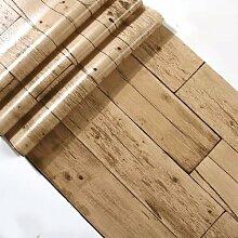 JSLCR Lagere antike Nachahmung Holz Tapete Tapeten und Retro-Kleidung Holzmaserung Tapete,96-8073