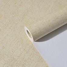 JSLCR Moderne minimalistische Zimmer Sand grau einfarbig Tapeten Kleber verklebt Tuch Tapete Wohnzimmer TV Hintergrund Tapeten,Bettwäsche gelb