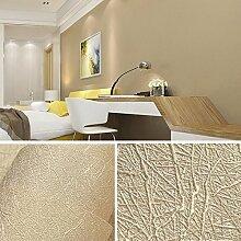 JSLCR Seide einfarbigen Tapete Tapete Wohnzimmer modern und schlicht 3D süße TV Hintergrund Schlafzimmerwand,Weizen-Farbe