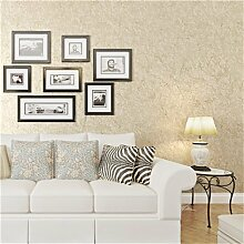 JSLCR Vintage Tapete ist einfach und modern, fleckige Volltonfarbe Vliestapete Wohnzimmer Schlafzimmer Studie legte die Tapete,Hellgelb