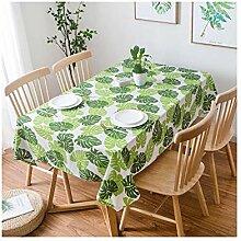 JSTC Grünes Blatt Tischdecke Rechteckige Einfache