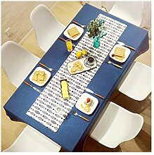 JSTC Leinen Rechteckig Tischdecke Schlichten Stil