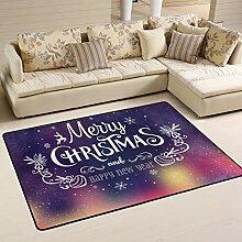 Jsteel Teppich, für Weihnachten und Neujahr,
