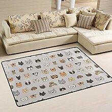 Jsteel Teppich, waschbar, weich, für Katzen und