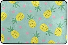 JSTEL Ananas-Fußmatte waschbar Garten Büro