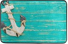 JSTEL Anker auf Vintage Holz Hintergrund-Fußmatte