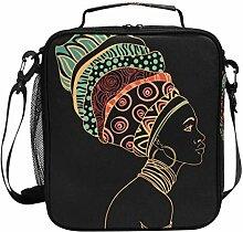 JSTEL Brottasche Afrikanische Frau Handtasche