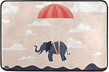 JSTEL Elefant-Fußmatte waschbar Garten Büro
