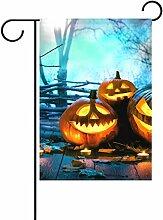 jstel Home Halloween Holz Spuk-Polyester-Forest-Garten Flaggen Lovely und Schimmelresistent Custom von Wasserdicht 30,5x 45,7cm, Verschiedene Materialien, multi, 12 X 18 inch