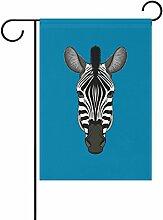 jstel Home Zebra Face Polyester Stoff Garten