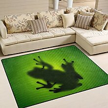 JSTEL INGBAGS Teppich mit Frosch auf grünem