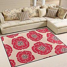 JSTEL INGBAGS Teppich mit Mohnblumen-Motiv, sehr