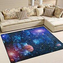 JSTEL INGBAGS Teppich mit Sternen und Galaxien im