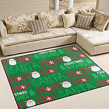 JSTEL INGBAGS Teppich mit Weihnachtsmann- und