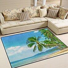 JSTEL INGBAGS Teppich Moderne Palme, tropischer