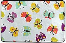 JSTEL Schmetterling-Fußmatte waschbar Garten
