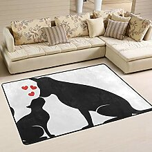 JSTEL Teppich, für Hunde und Katzen, waschbar,