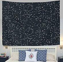 jstel Wandteppich für 12Constellation Universe Galaxy Space Stars Wand Überwurf Wohnheim Decor Gobelin 152,4x 101,6cm, Polyester, blau, 60x40(in)