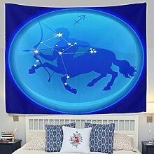 jstel Wandteppich für Fantasy 12Sternbild Schütze Wand Überwurf Wohnheim Decor Gobelin 152,4x 101,6cm, Polyester, blau, 80x60(in)