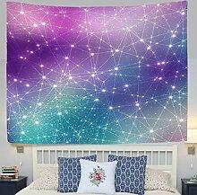 jstel Wandteppich für Violett Universe Galaxy Space Stars Digital Wand Überwurf Wohnheim Decor Gobelin 152,4x 101,6cm, Polyester, blau, 90x60(in)