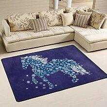 JSTEL Weiche Neujahrs-Teppich für Pferde und