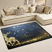 JSTEL Weiche Weihnachts-Teppich für Wohnzimmer,