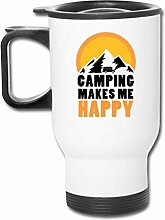 JSTF Car cup Becher Camping macht mich glücklich
