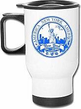 JSTF Car cup Becher New York Edelstahl Reisebecher