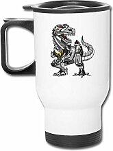 JSTF Car cup Becher TRex Dinosaurier Roboter
