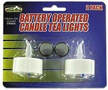 JT Kerzen & Scents 2teilige Dekorative LED