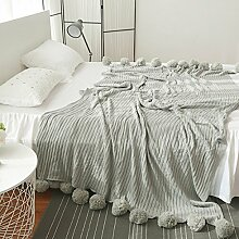 JTENGYAO Wendedecke/Kuscheldecke/wohndecke/Wolldecke Baumwolle Klimaanlage- und Sofa-decke Gewirke Rein Farbe