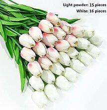 JTJHDK Künstliche Pflanze 31 Teile/los Tulpe