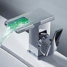 JTWEB LED-Wasserhahn für Waschbecken mit