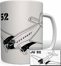 JU 52 Tante JU Flugzeug Luftwaffe - Tasse Becher Kaffee #3216
